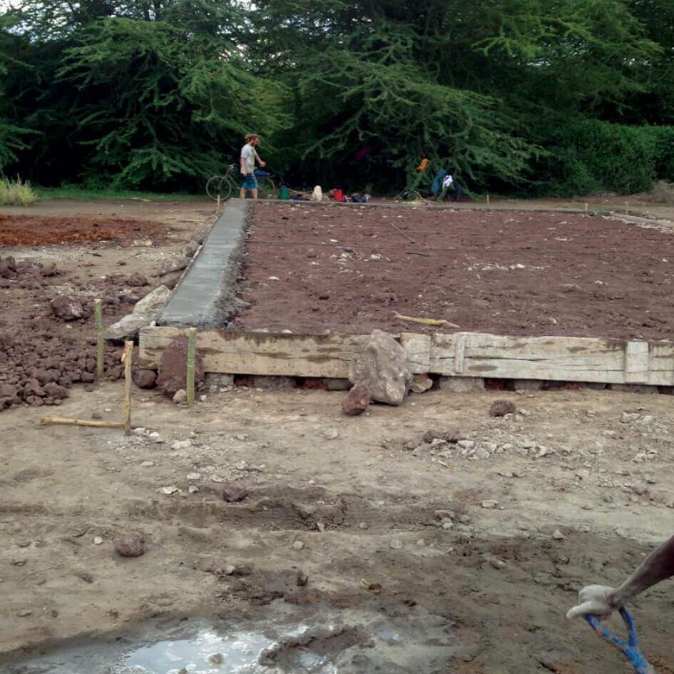 Building the Bandari Project Kindergarten - the foundations